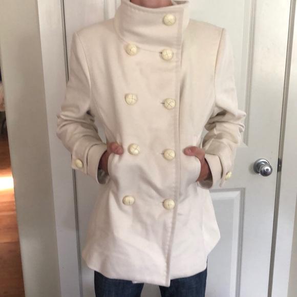Ivory pea coat